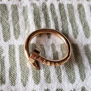Price drop❣️Dainty adjustable gold plated ring
